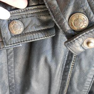U2 WEAR ME OUT Leather Coat